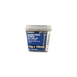 Wafer Head Screw 10g x 16mm B8 Metal Screws Box of 100
